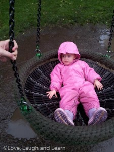 swinging in the rain