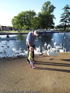 River Avon with grandad