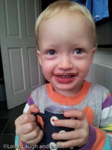 babyccino moustache