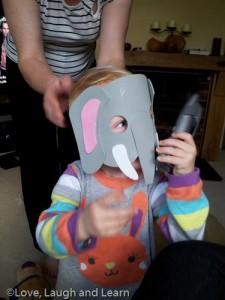 Grandma I'm an elephant!