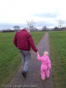 Taking Grandad to the park