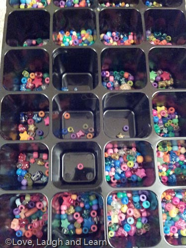 Toddler bead sorting