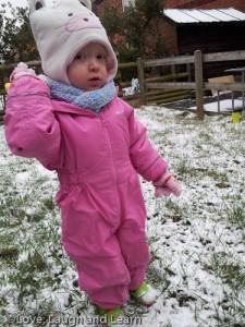 Toddler Snow Fun.