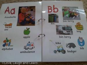 Annabelle's alphabet A-B