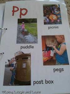 Annabelle's alphabet P